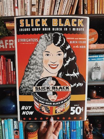 Slick Back Hair Dressing Poster (1950s/60s)
