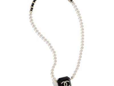 Chanel AirPods Case Pearl Necklace
