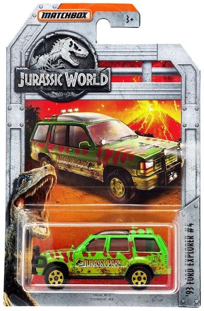Jurassic World Matchbox '93 Ford Explorer #4 Diecast Car