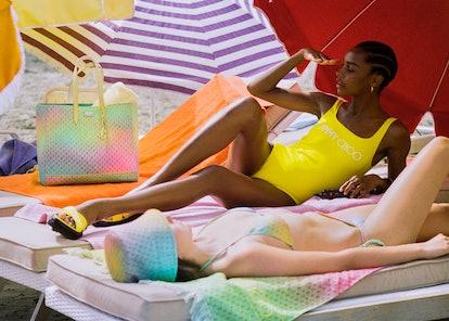 Image from Jimmy Choo's Beachwear Capsule campaign.