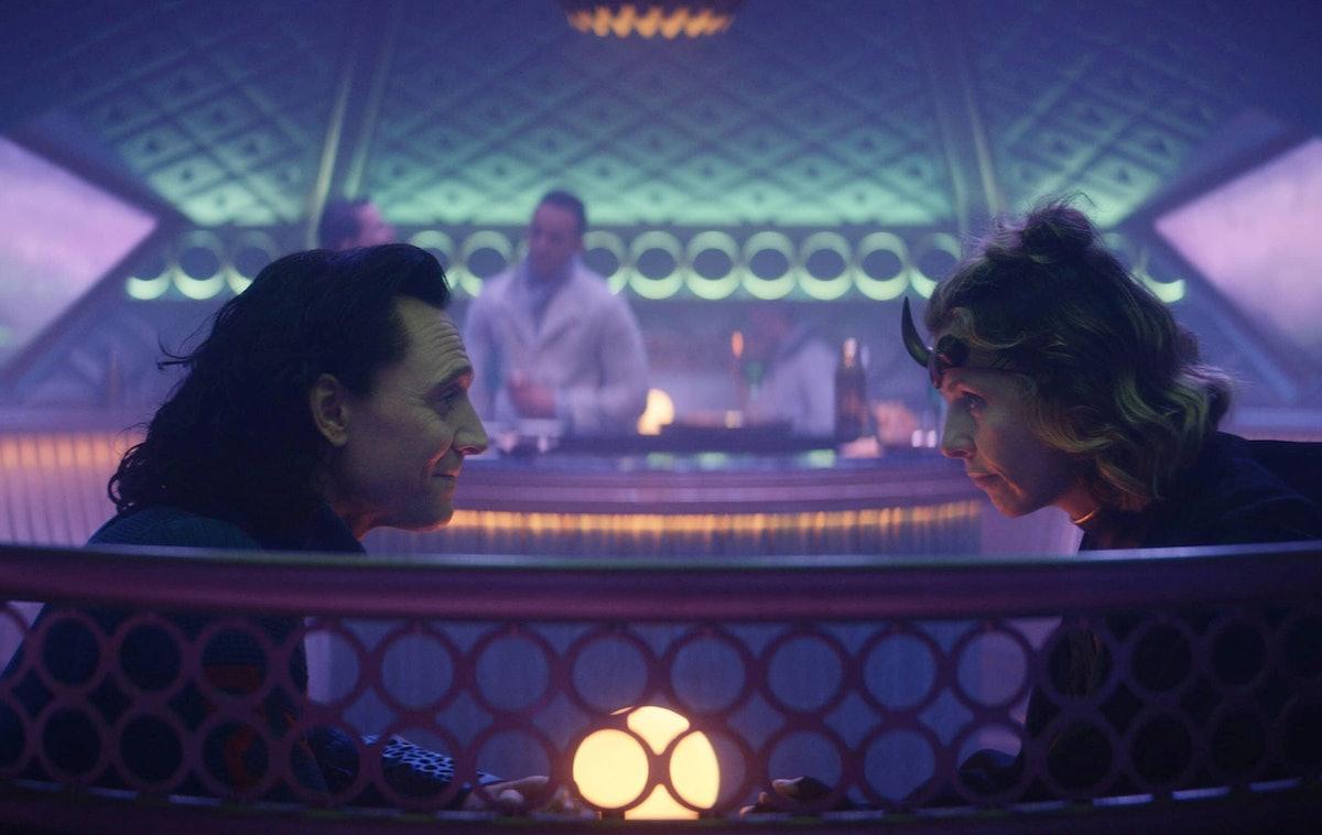 Tom Hiddleston as Loki and Sophia Di Martino as Sylvie discussing their bisexuality