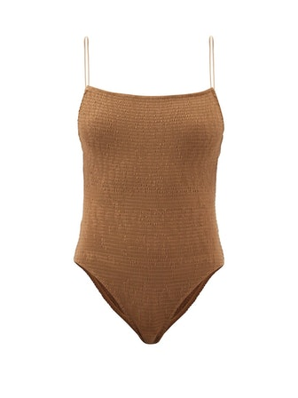 Shirred Recycled-Fibre Swimsuit