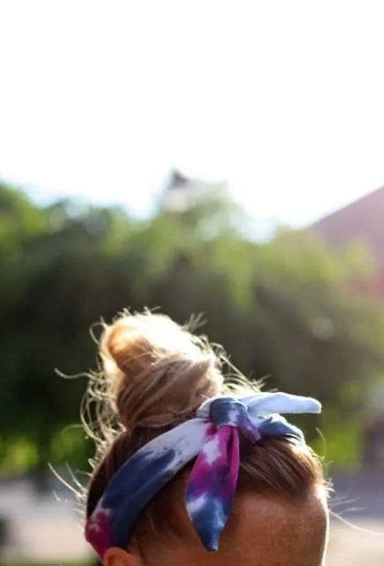 Tie-Dye headbands are a tie-dye summer craft to make with kids.