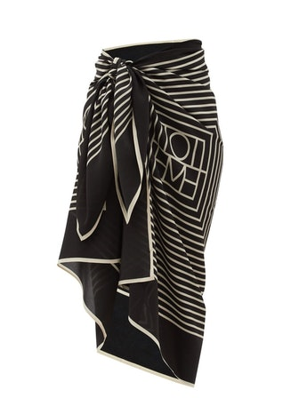 Monogram-Print Silk-Crepe Sarong