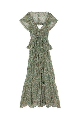 Ambersine Dress in Sarcelle Tasha Garden