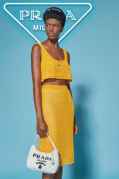 Model from Prada's 'Coast' beachwear campaign.