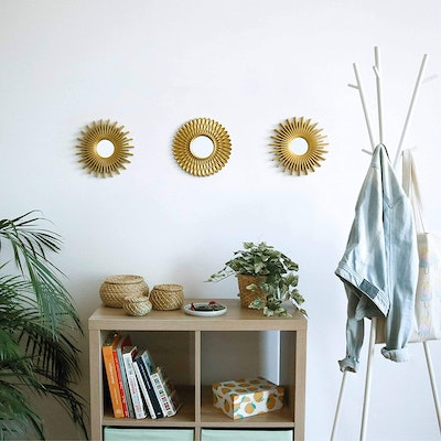 BONNYCO  Gold Wall Mirrors (3-Piece)