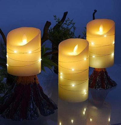 DANIP Flameless Candle (3-Piece)