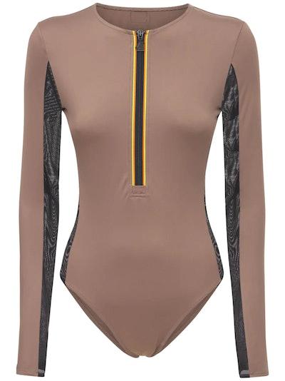 Zip-Up Swimsuit