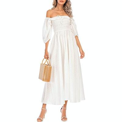 R.Vivimos Half Sleeve Ruffled Dress