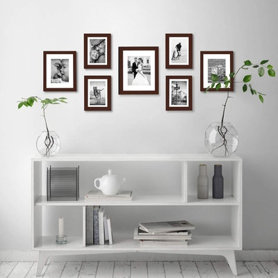 Americanflat Mahogany Gallery Wall Picture Frame Set (7-Piece)