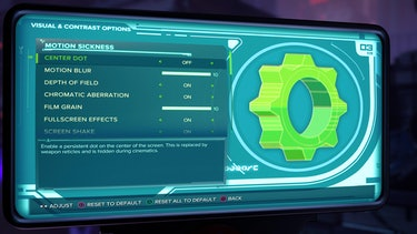 ratchet and clank visual and contrast menu