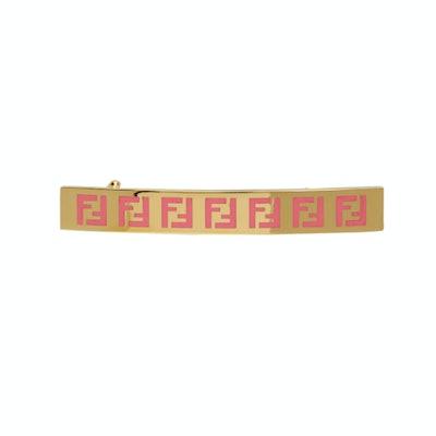 Fendi Gold & Pink 'Forever Fendi' Hair Clip
