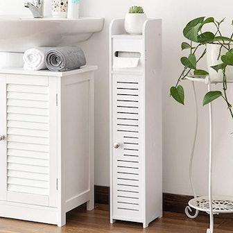 AOJEZOR Small Bathroom Storage Corner Cabinet