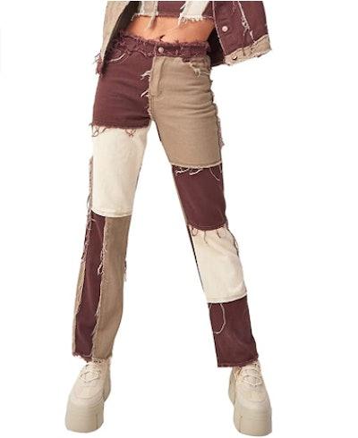 HBER Color Block Jeans