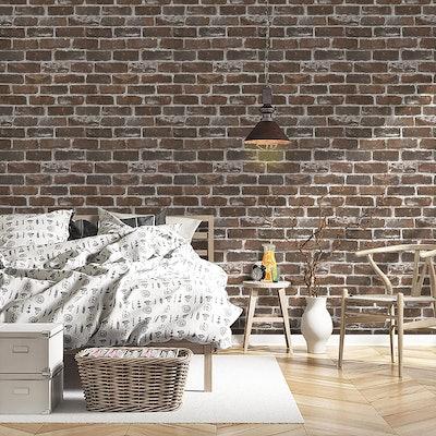 Timeet Vintage Brown Brick Wallpaper