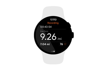 Smartwatch running Google and Samsung's Wear operating system for smartwatches