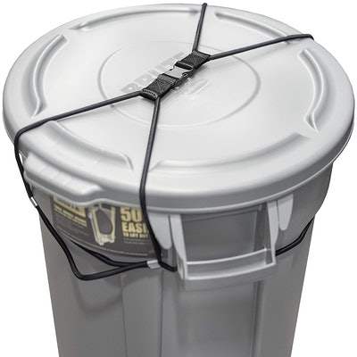 Encased Trash Can Lock for Outdoors
