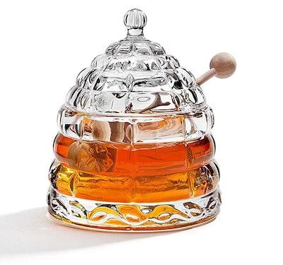 Studio Silversmith Beehive Crystal Honey Jar