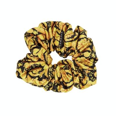 Versace Black & Gold Barocco Scrunchie