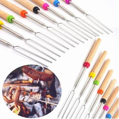 Wooden Roasting Sticks (12-Piece)