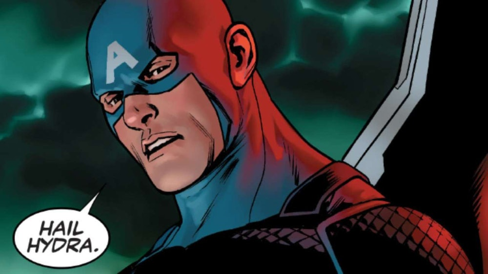 Nick Spencer's Secret Empire features this infamous panel.