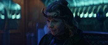 Sophia Di Martino on the train in Loki Episode 3