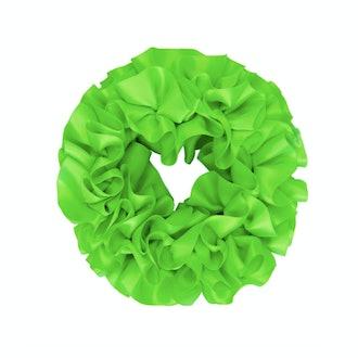 Maryam Nassir Zadeh Green Carnation Scrunchie