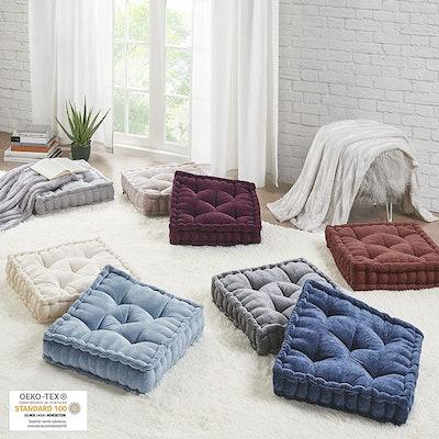 Intelligent Design Square Chenille Floor Pillow
