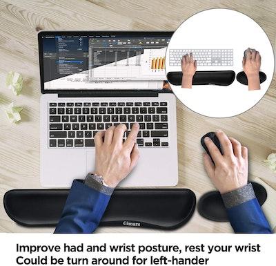 Gimars Memory Foam Set Keyboard Wrist Rest Pad