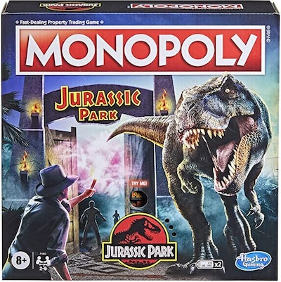 Hasbro Gaming Monopoly: Jurassic Park Edition Board Game for Kids Ages 8 and Up