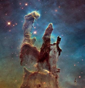 pillars of creation nasa hubble