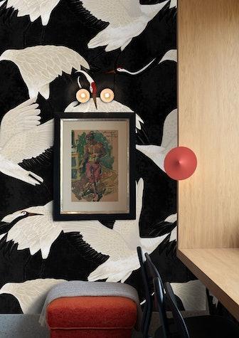 Black Heron Print Wallpaper