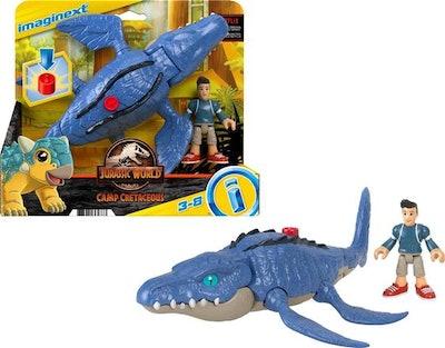 Fisher-Price Imaginext Jurassic World Camp Cretaceous Mosasaurus & Kenji