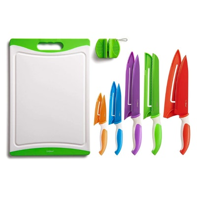 EatNeat 12-Piece Colorful Kitchen Knife Set