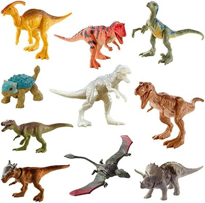 Jurassic World Camp Cretaceous Multipack with 10 Mini Dinosaur Action Figures