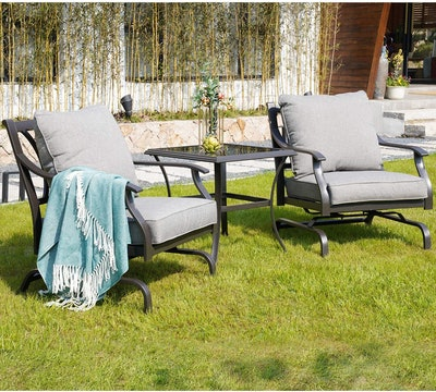 Grand Patio Bistro Conversation Chairs (Set Of 2)
