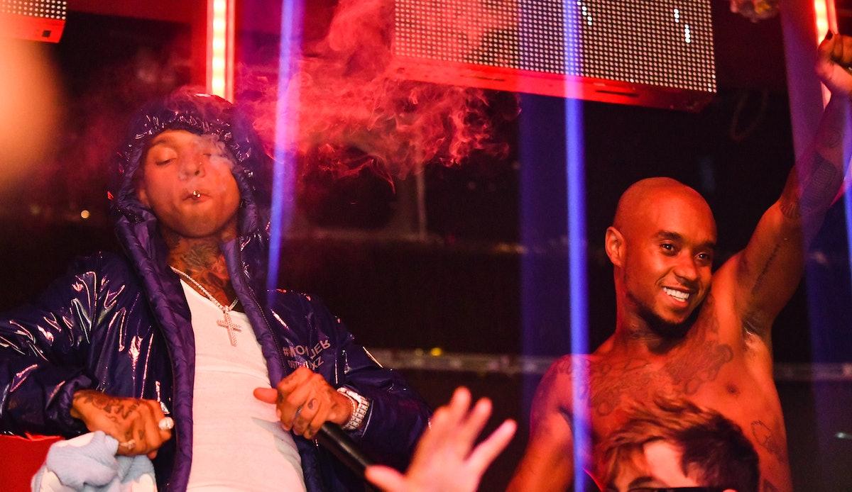 Slim Jxmmi and Swae Lee of Rae Sremmurd partying