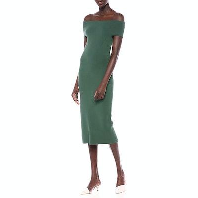 Lark & Ro Off The Shoulder Sheath Sweater Dress