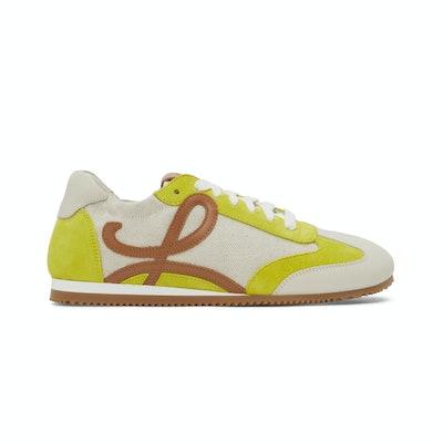 Loewe Beige & Yellow Ballet Runner Sneakers