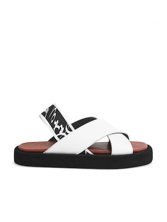White Uri Sandals
