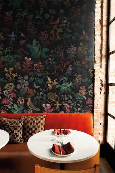 Botanical wallpaper, secret garden