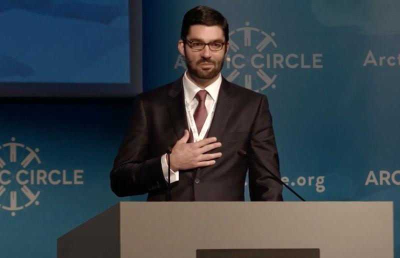 Scott Borgerson at the 2014 Arctic Circle conference.