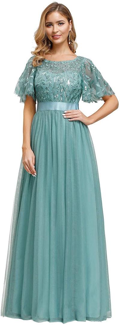 Ever-Pretty A-Line Embroidery Dress