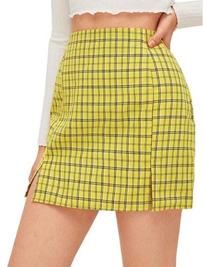 WDIRARA Split Mini Skirt
