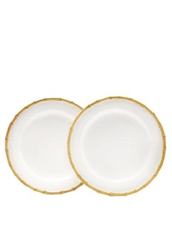 Bamboo Porcelain Dinner Plates (Set Of 2)