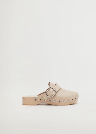 Studded Leather Clog