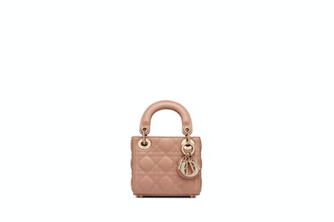 Micro Lady Dior Bag In Roses Des Vents Cannage Lambskin