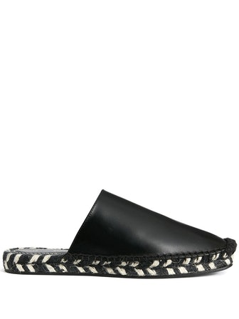 Slip-On Espadrille-Style Mules