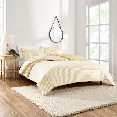 T-Shirt Jersey Organic Cotton Blend Comforter Set, Full/Queen